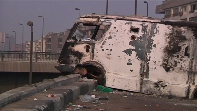 Army Clears Out Remains Of Pro-Mursi Sit-In At Rabaa