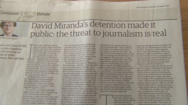Guardian Says GHCQ Made It Destroy Snowden Material