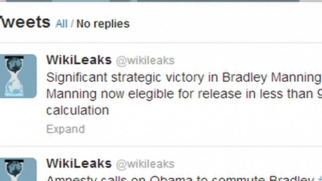 Manning Case A Strategic Victory, Tweets Wikileaks