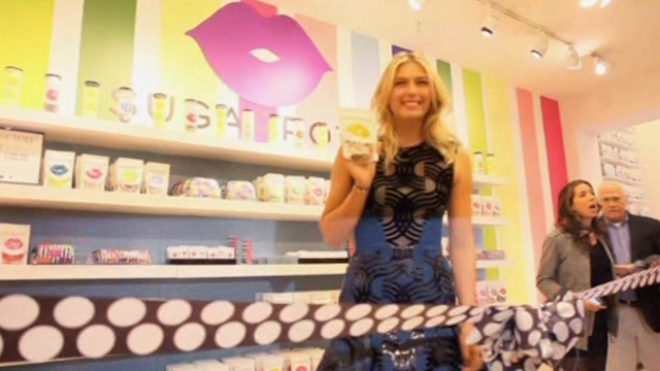 Sharapova Adds Accessories To Her Candy Line