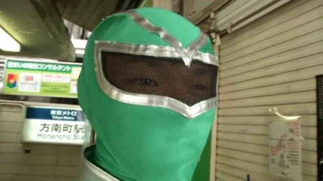 Masked Hero To The Rescue At Tokyo Subway Station