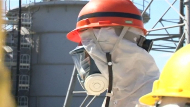 Japan Industry Minister Inspects Fukushima Nuclear Plant