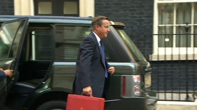 British PM Returns To Downing St To Consider Syria