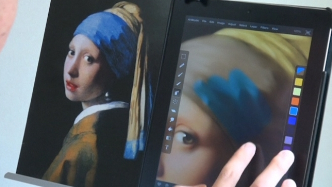 Japanese Artist Reproduces Art Master Pieces On His iPad