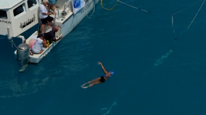 U.S. Swimmer Completes Record Cuba-To-Florida Swim