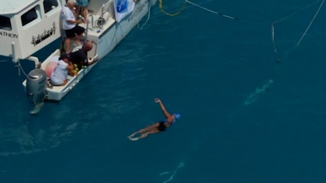 U.S. Swimmer Completes Record Cuba-To-Florida Swim