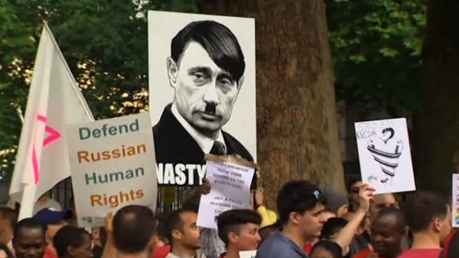 Hundreds Rally In London Against Russian Anti-Gay Laws