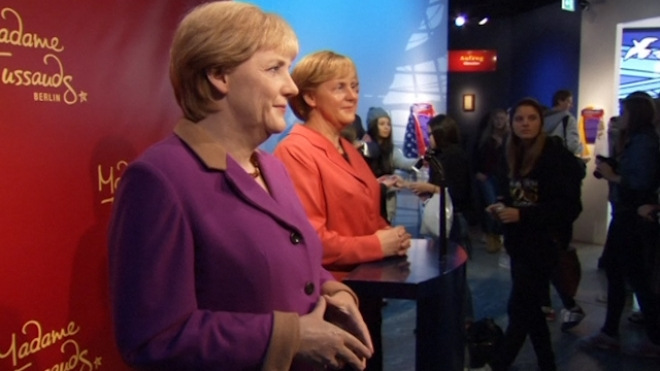 Madame Tussauds Unveils New Wax Figure Of Merkel