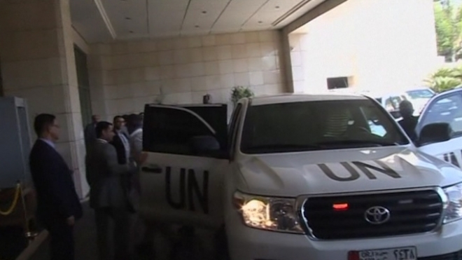U.N. Chemical Weapons Inspectors Back In Damascus