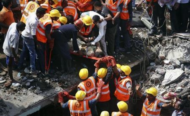 Dozens Trapped After Mumbai Building Collapses