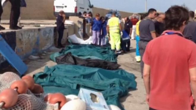 Dozens Die As Migrant Boat Sinks Off Sicily