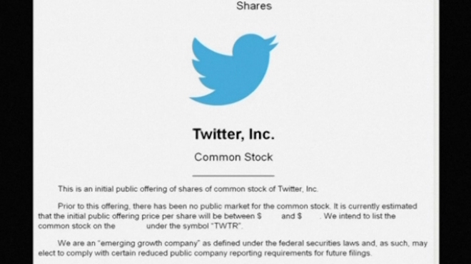 Twitter Unveils IPO Filing, Aims To Raise $1 Billion