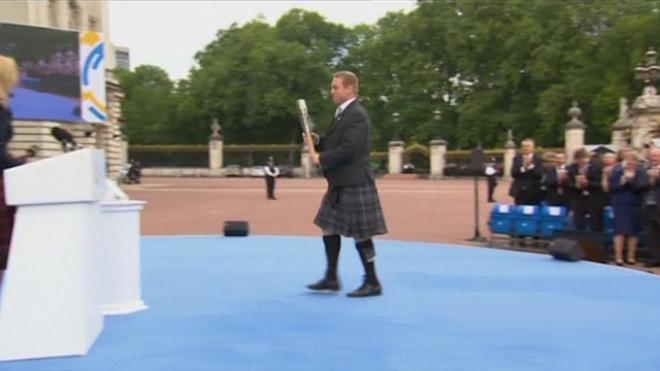 Queen Launches Commonwealth Baton Relay