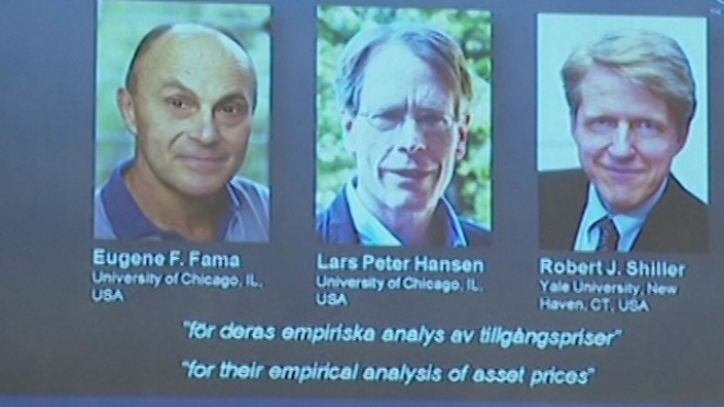 Americans Win Nobel Prize For Asset Price Forecasts