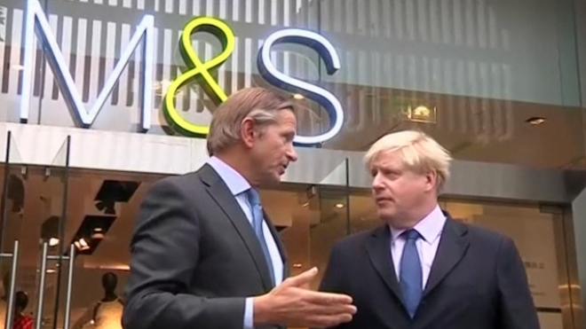 Mayor Boris Johnson Visits M&S In Shanghai