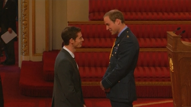 Andy Murray Receives OBE From Prince William