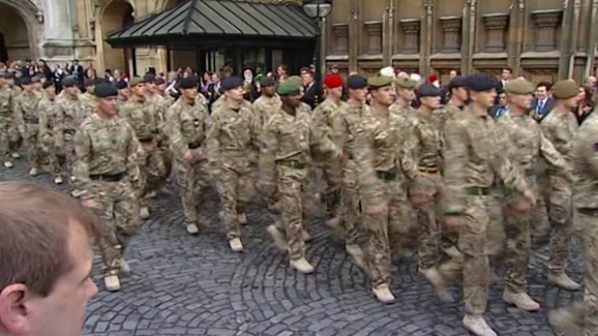 Cameron Welcomes Troops Home From Afghanistan