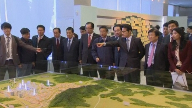 South Korean Politicians Inspect Kaesong Industrial Park