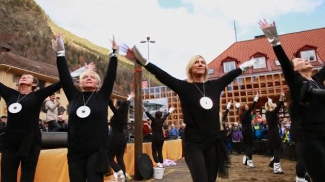 Sun Mirrors Lighten Winter Gloom In Norway