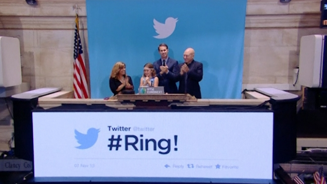Twitter Stocks Soar As IPO Takes Flight on NYSE