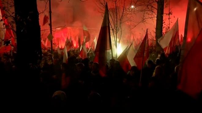 Firecrackers Thrown Outside Russian Embassy In Warsaw