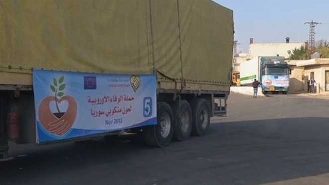 Five Containers Of European Aid Arrive In Syria