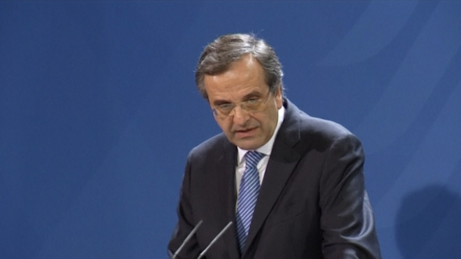 Samaras Tells Merkel No Hole In Greek Aid Programme