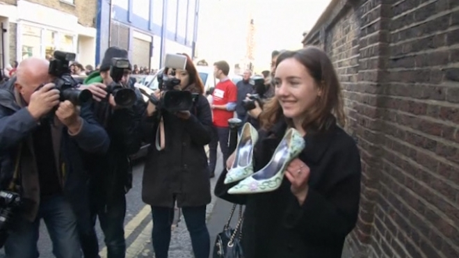 Hundreds Queue Up for Charity Beckham Clothes