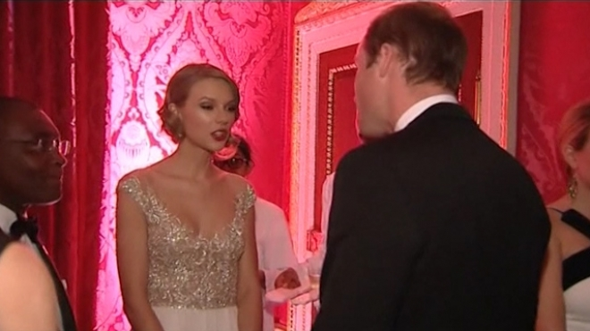 Swift Meets Prince William At Homeless Charity Gala