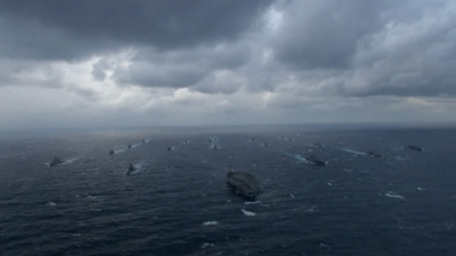 Super-Carrier Participates In U.S-Japan Joint Naval Exercise