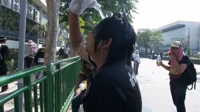 Thai Authorities Fire Tear Gas At Demonstrators