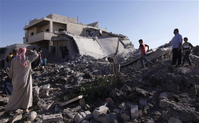Syrian Army Drops Barrel Bombs On Rebel Town