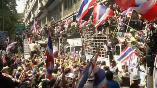Thai Protesters March on National Police Office