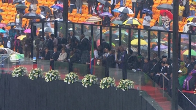 Religious Leaders Lead Prayers At Mandela Memorial Service
