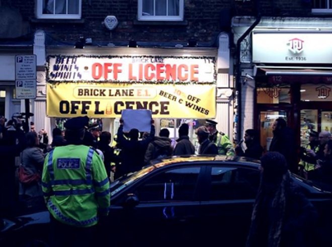 Muslim Group Stages Anti-Alcohol Protest in Brick Lane