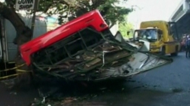 Philippines Bus Crash Kills Dozens In Manila