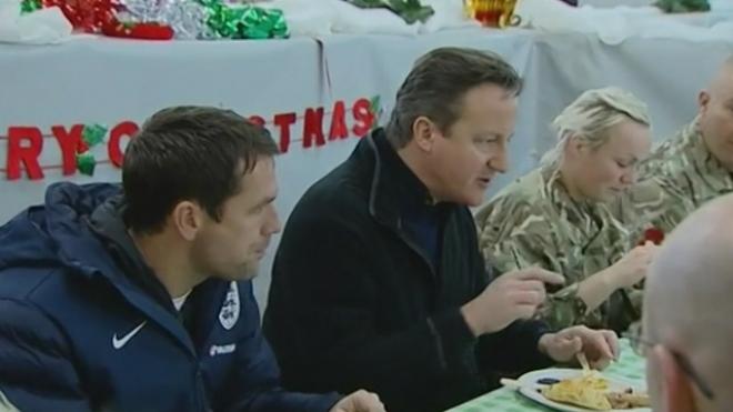 David Cameron Visits Troops in Helmand