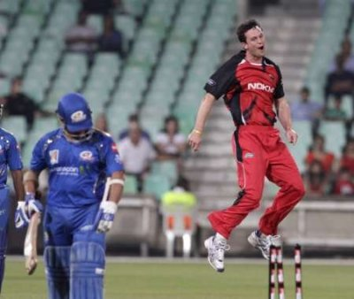 Mumbai Indians Sachin Tendulkar reacts after being bowled by South Austrian Redbacks Gary Putland