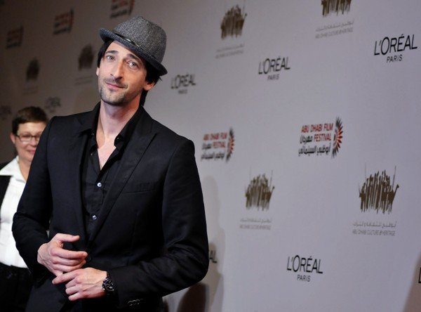 U.S. actor Adrien Brody arrives for the opening ceremony of the Abu Dhabi Film Festival at Emirates Palace