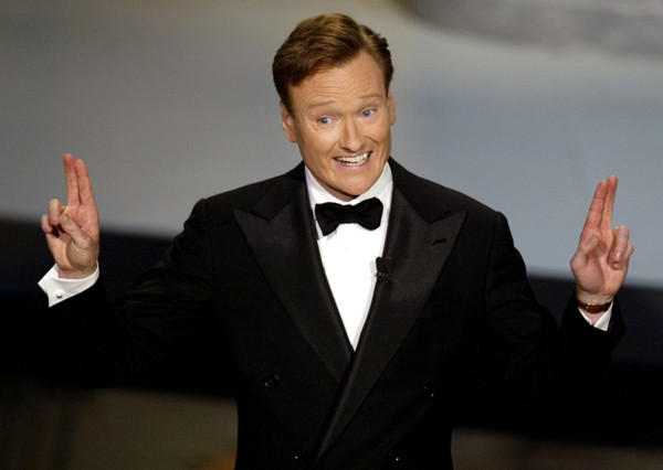 Talk show host Conan O'Brien hosts the 54th annual Emmy Awards in Los Angeles September 22, 2002