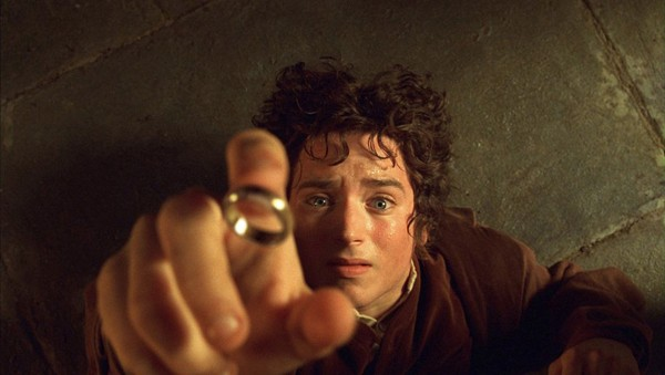 Actor Elijah Wood portrays Hobbit Frodo