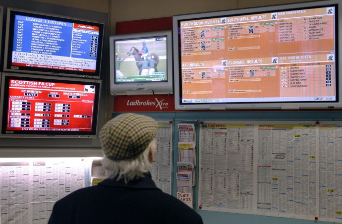 Gambling companies like British based Ladbrokes are going mobile with betting apps.