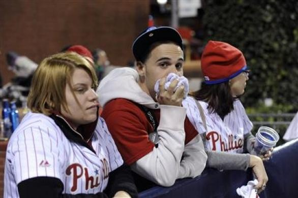 Disappointed Philadelphia Phillies fans