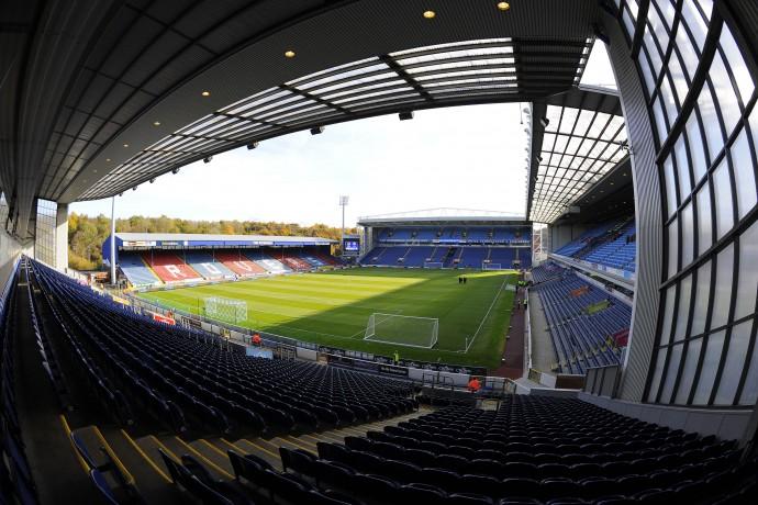 A view of Blackburn Rovers' Ewood Park stadium.