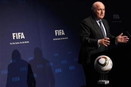 FIFA President Sepp Blatter attends a news conference after the Executive Committee meeting at the Home of FIFA in Zurich November 19, 2010.