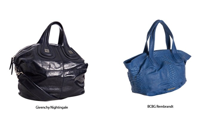 Givenchy Nightingale (right) and BCBG Rembrandt handbags