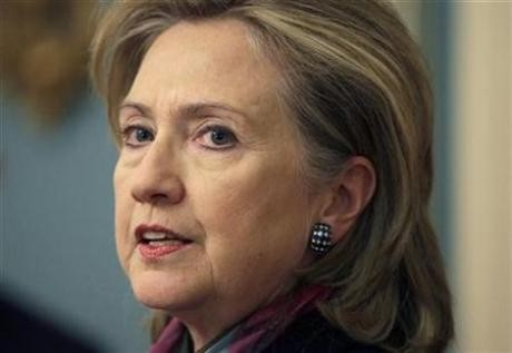 U.S. Secretary of State Hillary Clinton delivers a statement about WikiLeaks lead at the State Department in Washington November 29, 2010.