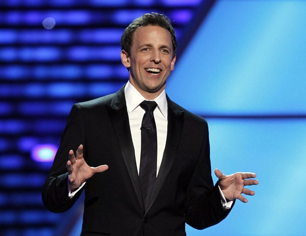 Host Seth Meyers delivers the opening monologue at the 2010 ESPY Awards in Los Angeles