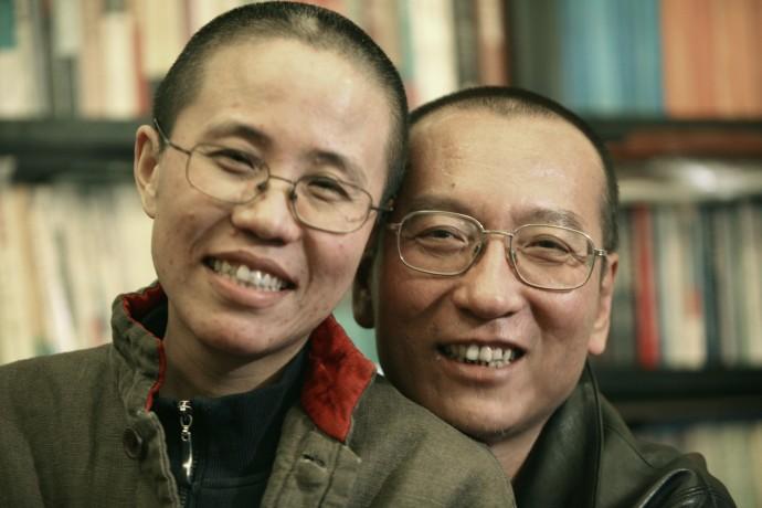Chinese dissident Liu Xiaobo and his wife Liu Xia