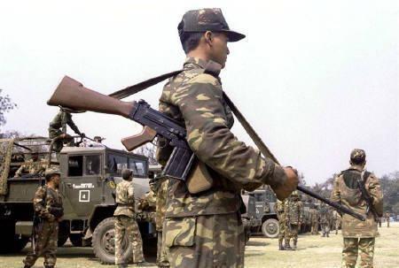 Soldier in Assam